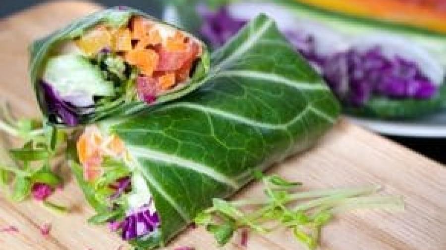 Wrap végétarien et boost de vitamine C